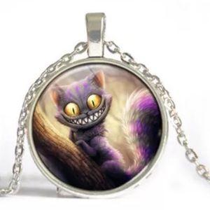 Alice in Wonderland silvertone necklace